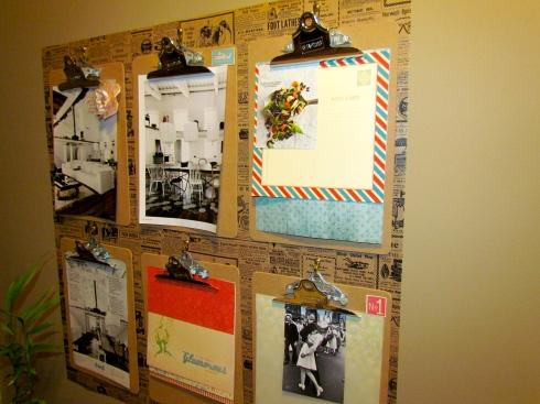 DIY: dekoracja na ścianę z podkłądek z klipsem