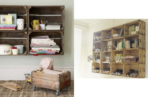 salvagedwoodcrateshelves