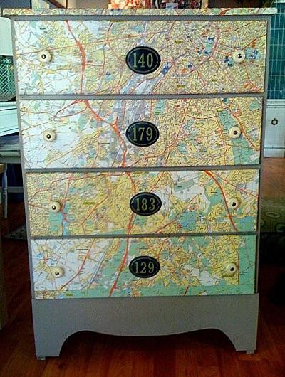 dekoracje z map 41