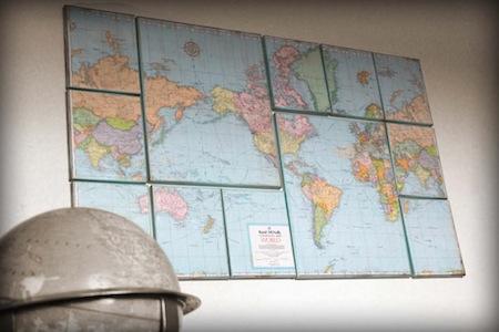 mapy na sciane dekoracje