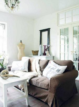 rustic poduszki lniane w stylu rustykalnym blog o wnętrzach