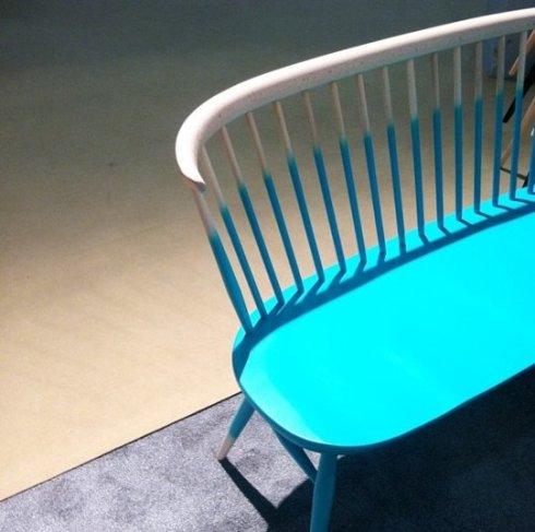 ławka w kolorach Ombre_targi mebli w Nowym Jorku_blog o wnętrzach