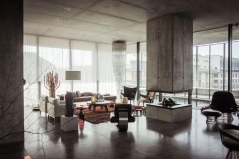 betonowe sciany w mieszkaniu_szare ściany_blog o wnętrzach 1