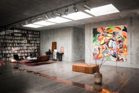 betonowe sciany w mieszkaniu_szare ściany_blog o wnętrzach 2