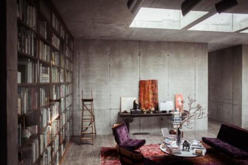 betonowe sciany w mieszkaniu_szare ściany_blog o wnętrzach 3