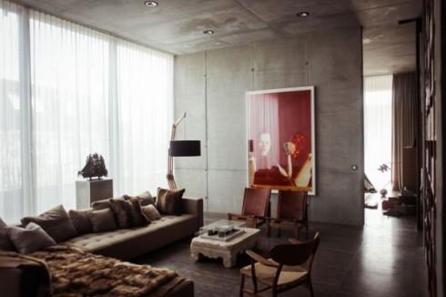 betonowe sciany w mieszkaniu_szare ściany_blog o wnętrzach 7