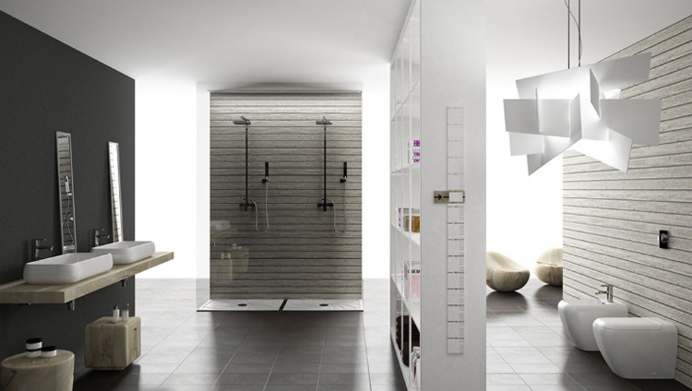 Azienka w odcieniach szaro ci deco inspire for Z gallerie bathroom design